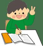 一生懸命勉強する子供