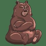 ふてぶてしい熊